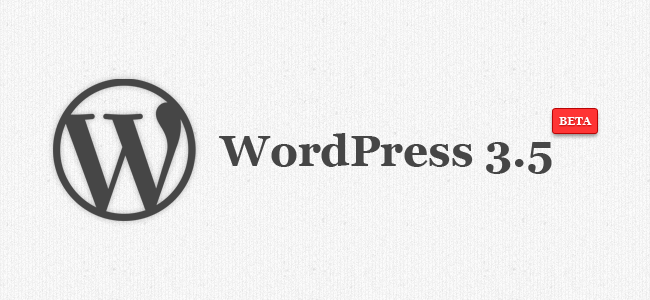 WordPress 3.5 beta released