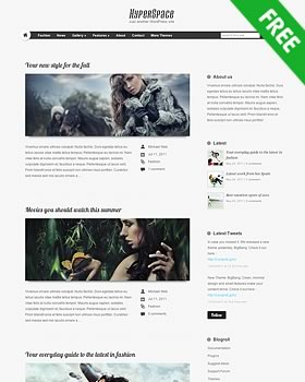 Free premium WordPress theme - Hyperspace