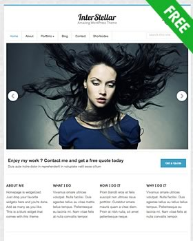 Free premium WordPress theme - Interstellar