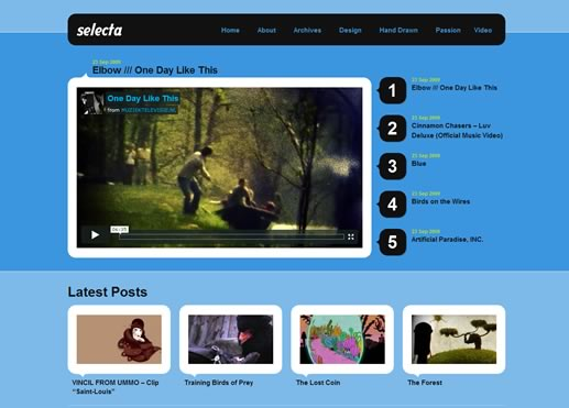Free premium WordPress theme - Selecta
