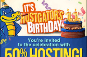 50% off Hostgator hosting – One day only!