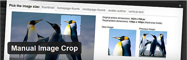 Manual Image Crop WordPress Plugin