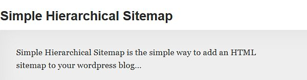 Simple Sitemap WordPress Plugin