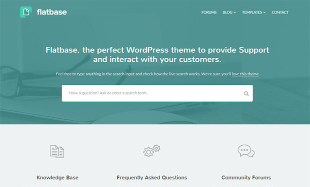 Fl;atbase WordPress Helpdesk Theme