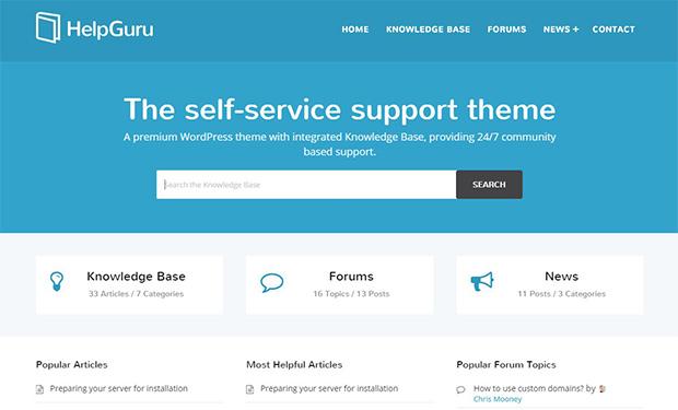 Help Guru all-round WordPress support theme