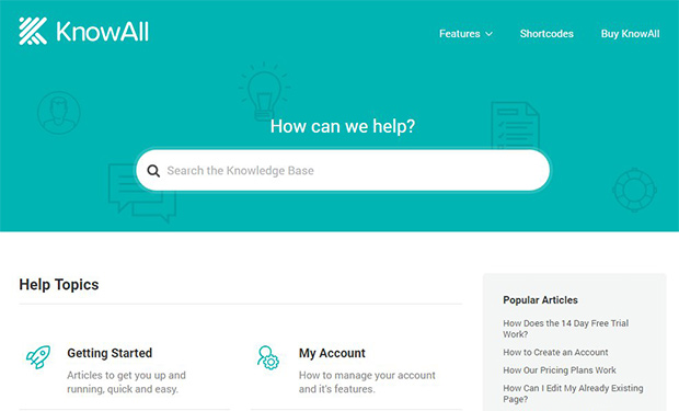 KnowAll WordPress support theme