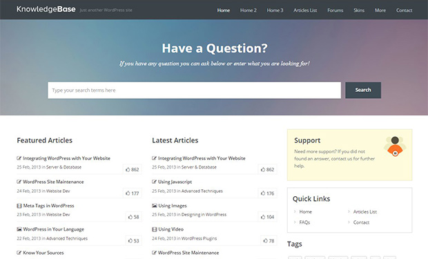 Knowledge Base - WordPress Support Theme