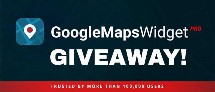 Giveaway: Google Maps Widget for WordPress